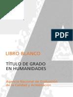 Humanidades Libro Blanco