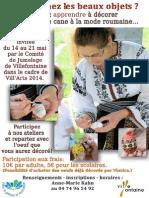 Affiche Oeufs Roumains VillArts 2014