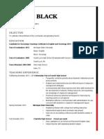 black rob resume