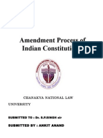 Amendment of Indian Constitution