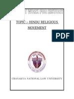 HINDU RELIGIOUS MOVEMENT