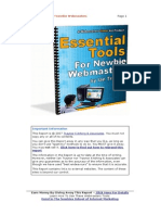 Essential Tools For Newbie Webmasters -by Ian Traynor
