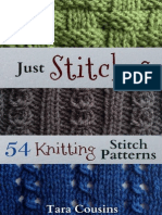 Just Stitches 54 Knitting Stitch Patterns