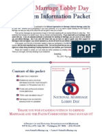 NOM's packet for how to lobby in favor of banning marriage