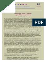 Democracia Prensa y Sociedad Responsabilidades Compartidas Gerardo Albarran