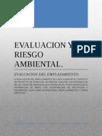 Evaluacion y Riesgo Ambiental