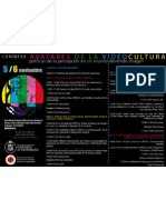 """Congreso """"Avatares de La Videocultura"""" Políticas de la percepción en un mundo devenido imagen"""