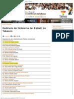 __ Gobierno Del Estado de Tabasco - Gabinete Del Gobierno Del Estado de Tabasco_