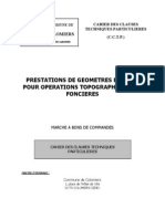 Prestations de géomètres experts