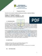 Analisis Del Discurso Politico y Opinion Publica