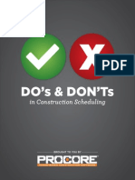 Dos__Donts of Construction Scheduling