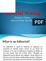 Notes on Editorial Writing