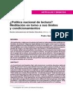 9. Pedro Gerardo Rodríguez - Política nacional de lectura Meditación en torno a sus límites y condicionamientos