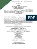 13-4429 #74 - First Amendment Scholars Amicus Brief