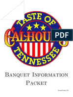 Calhouns Banquet Information Packet