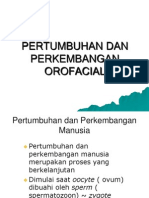 Pertumbuhan Dan Perkembangan Orofacial