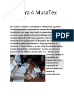 Bitácora 4 MusaTex