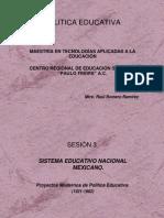 3 Proyectos de Politica Educativa