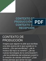 Contexto de producción y contexto de recepción II