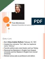 toni morrison author presentation