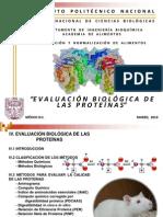 EVALUACIÓN BIOLÓGICA DE LAS PROTEÍNAS ENE - JUN 2014