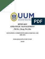 814118 Muhammad Izwan Yusof - Sustaining Competitive Edge for Mas and Air Asia