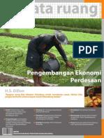 Buletin TATA RUANG. Edisi Juli-Agustus 2009. Pengembangan Ekonomi Perdesaan.