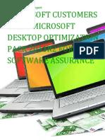 Microsoft Customers using Microsoft Desktop Optimization Pack 2011R2 for Software Assurance - Sales Intelligence™ Report