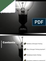 Divergent Thinking and Creativity