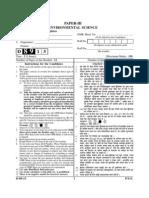 UGC  Net-III Paper Environmental Science