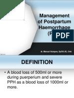 Management of PPH by Dr.manuel Hutapea,Sp.og (K)Onk