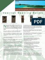 Habitat Nesting Boxes