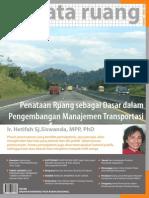 Buletin TATA RUANG. Edisi September-Oktober 2008. Penataan Ruang sebagai dasar Pengembangan Manajemen Transportasi