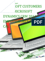Microsoft Customers using Microsoft Dynamics CRM 2011 Employee Self Service CAL - Sales Intelligence™ Report