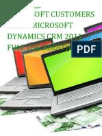 Microsoft Customers using Microsoft Dynamics CRM 2011 Full Use Additive CAL - Sales Intelligence™ Report