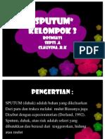 Ppt Sputum