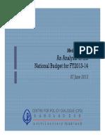 Budget FY14