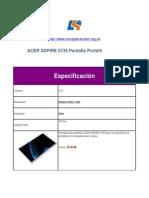 ACER Aspire 5735 Pantalla