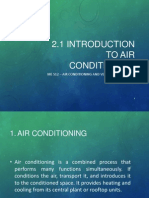 2.1 Introduction to Air Conditioning