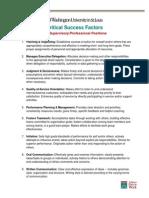 Critical Success Factors Supervisory