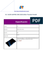 Acer Aspire One d255-2dqrr Pantalla