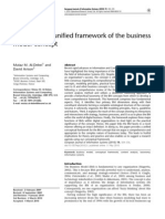 Developing a Unified Framework of the Business Model Concept