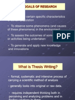 Sample Research Thesis Writing