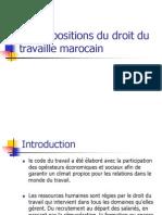 Les Dispositions Du Droit Du Travaille Marocain PPT Mouna