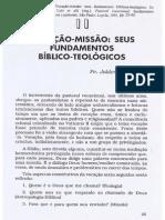 Vitório - Vocaçao-missao - seus fundamentos bíblico-teológicos