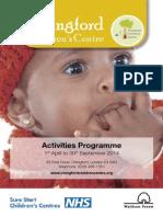 Activities April to September 2014