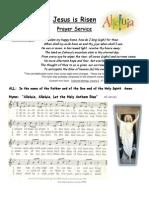 Jesus is Risen Prayer Service