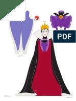 Evil Queen Snow White Papercraft Printable 0911