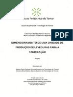 Dimensionamento de uma unidade de produção de leveduras para a panificação