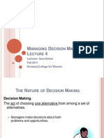 4- Managing Decision Making